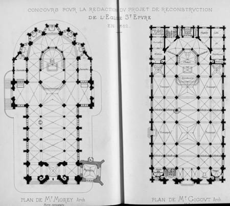 Concours pour la rédaction du projet de reconstruction de l'église St Epvre