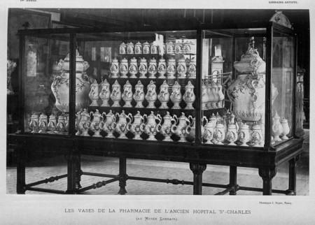 Les vases de la pharmacie de l'ancien hôpital St-Charles