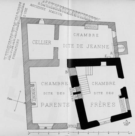Plan de la maison dite de Jeanne d'Arc