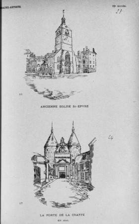 Ancienne église St-Epvre. La porte de la Craffe