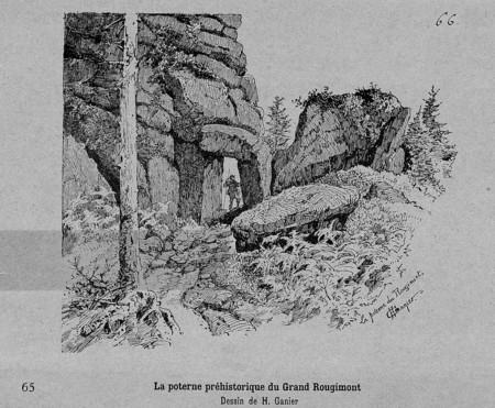 La poterne préhistorique du Grand Rougimont