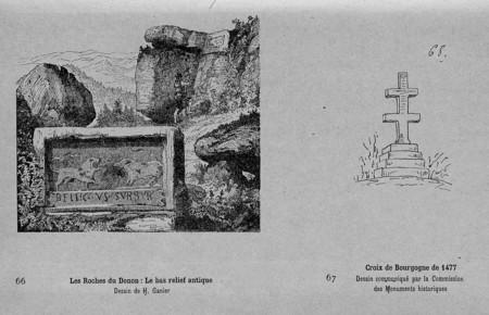 Les roches du Donon. Croix de Bourgogne de 1477