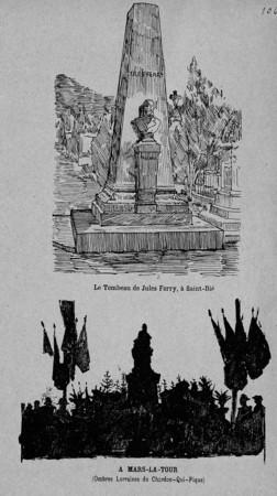 Le tombeau de Jules Ferry. A Mars-la-Tour