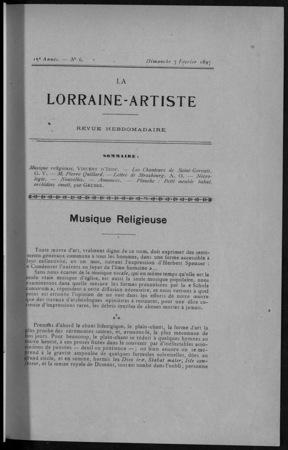 La Lorraine artiste