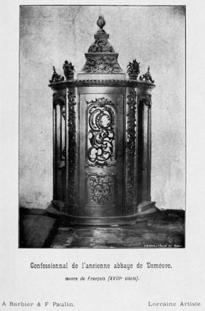 Confessionnal de l'ancienne abbaye de Domévre