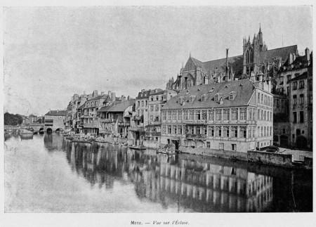 Metz : vue sur l'écluse