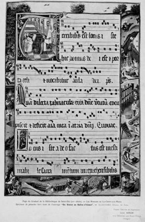 Page du graduel de la bibliothèque de Saint-Dié