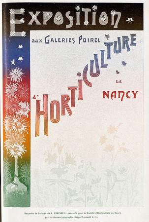 Maquette de l'affiche de R. Steinheil, exécutée pour la société d'horticul…