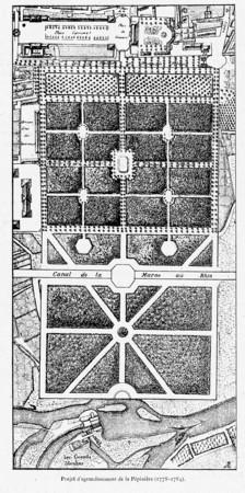 Projet d'agrandissement de la pépinière (1778-1784)