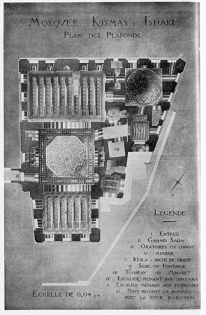 Mosquée Kismas el Ishaki : plan des plafonds
