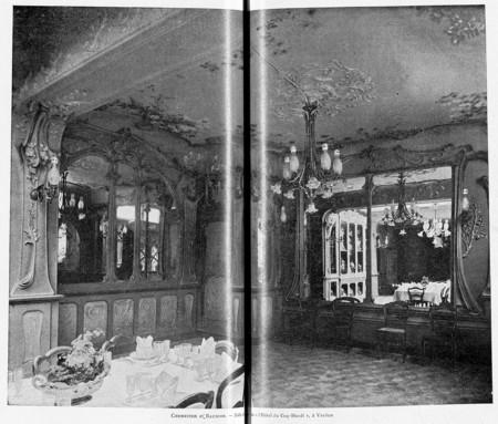 """Salle à manger de """"l'hôtel du coq hardi"""", à Verdun"""