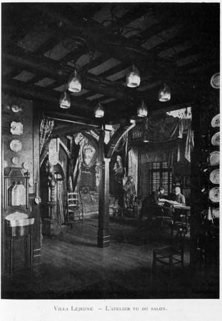 Villa Lejeune : l'atelier vu du salon
