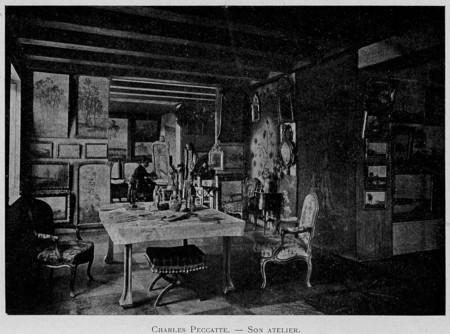Charles Peccatte : son atelier