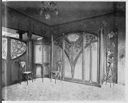 Boiserie du salon d'essayage de la maison François Vaxelaire