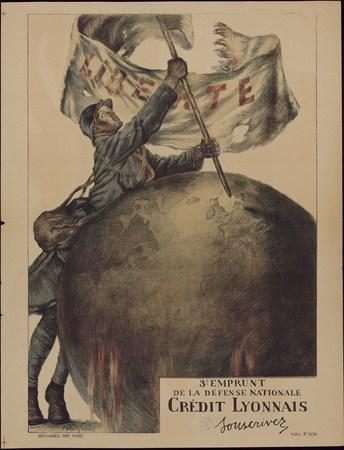 3e emprunt de la Défense nationale. Crédit Lyonnais. Souscrivez