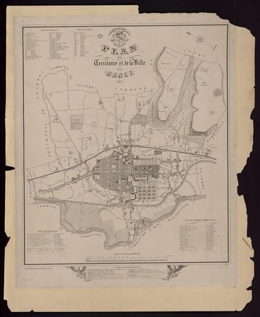 Plan du territoire et de la ville de Nancy 1871