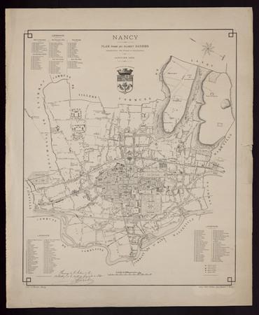 Nancy plan dressé par Albert Barbier, conducteur des ponts et chaussées. J…