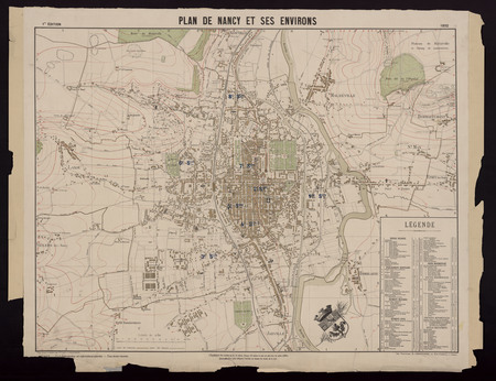 Plan de Nancy et ses environs 1892