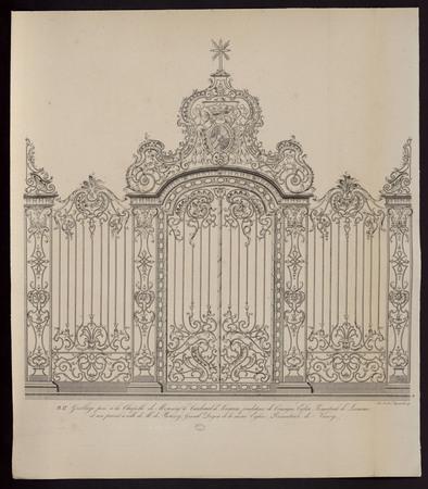 Grillage posé à la chapelle de Monseigneur le Cardinal de Lorraine