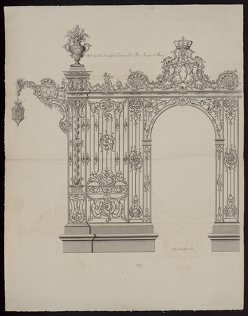 Grilles des angles d'entrée de la Place Royale de Nancy