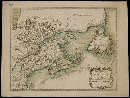 Partie orientale de la Nouvelle France ou du Canada