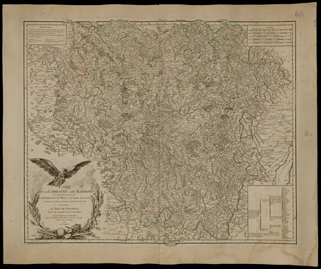 Carte de la Lorraine et du Barrois