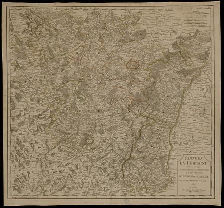 Carte de la Lorraine où l'on a distingué le Pays Messin, le Verdunois et l…