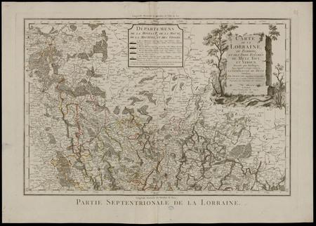 Carte de la Lorraine, du Barrois et des Trois Evêchés de Metz, Toul et Ver…