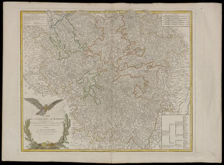 Carte de la Lorraine et du Barrois dans laquelle se trouvent la généralité…