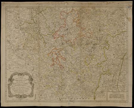 Carte des Duchés de Lorraine et Bar des Évêchés de Metz, Toul et Verdun et…