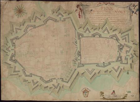 Plan des villes, citadelle de Nancy.