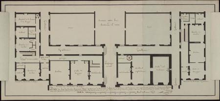 Plan du rez de chaussée et premier étage des maison de Madame l'abesse et …