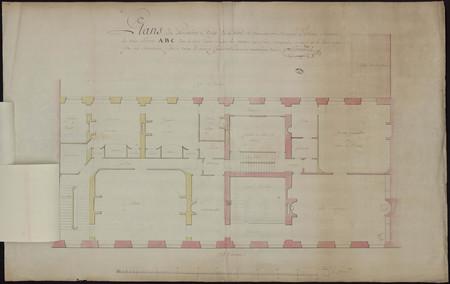 Plan du premier étage de l'hôtel de monsieur le marquis d'Alsace [...], fa…