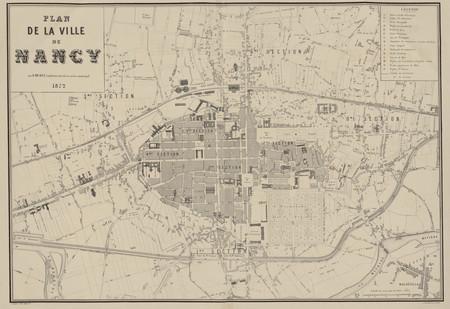 Plan de la ville de Nancy par H. Micault, conducteur, attaché au service m…