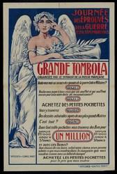 Journée des éprouvés de la guerre le 26 septembre 1915. Grande tombola org…