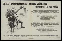 20.000 Alsaciens-Lorrains, engagés volontaires, combattent à nos côtés. Pl…