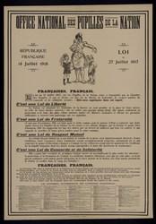Office national des pupilles de la nation, République française, 14 juille…