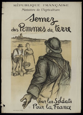 Semez des Pommes de terre Pour les Soldats Pour la France