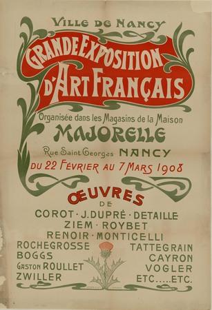 Grande exposition d'art français organisée dans les magasins de la Maison …