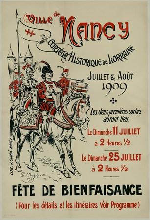 Ville de Nancy : cortège historique de Lorraine. Juillet et août 1909