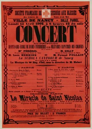 Ville de Nancy - Salle Poirel. Concert au profit du dispensaire école de d…