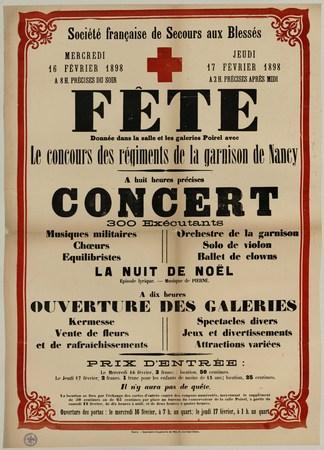 Société française de secours aux blessés - Fête donnée dans la salle et le…