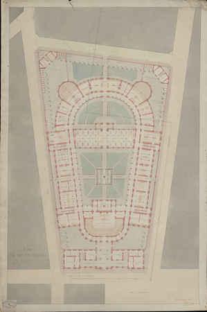 Plan du rez-de-chaussée [pour le projet de construction de la faculté de m…