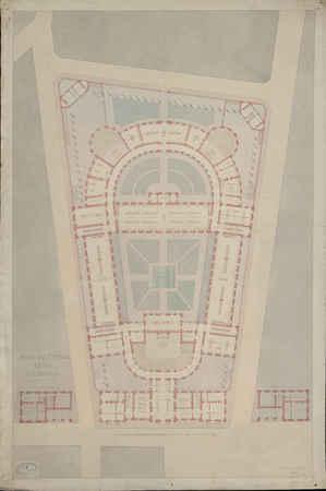 Plan du premier étage et des entresols [pour le projet de construction de …