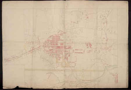 Plan manuscrit de la ville de Nancy, dressé en 1778 et sur lequel figurent…