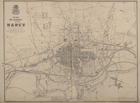 Plan de la ville de Nancy réduit du plan d'alignement revu complété et mis…