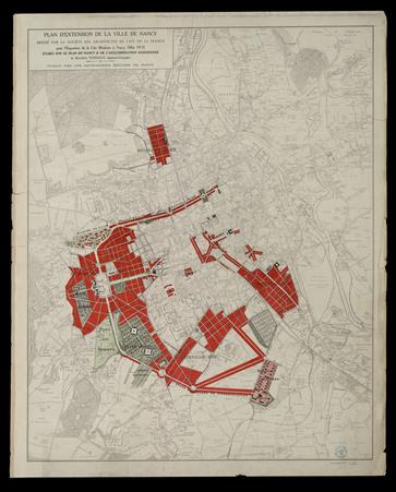 Plan d'extension de la ville de Nancy dressé par la société des architecte…