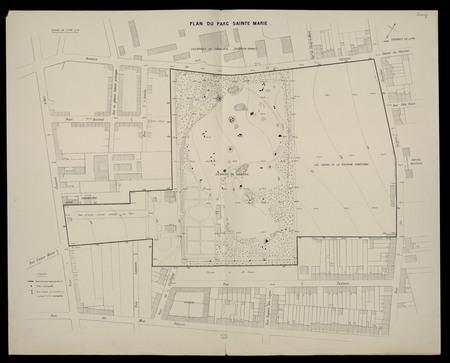 Plan du parc Sainte Marie