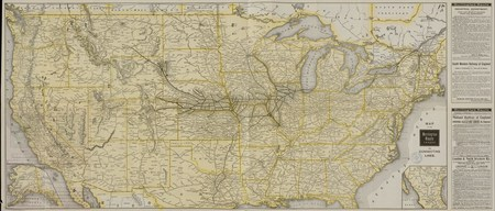 Map of the Burlington Route C.B. And O. R.R. and Connecting lines