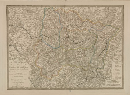 Carte routière des provinces d'Alsace et de Lorraine